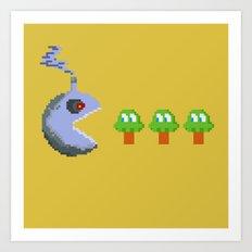 March of Progress   videogame #tribute   #pixelart Art Print
