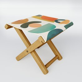 Modern Abstract Art 72 Folding Stool