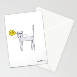 A Cat Saying No Stationery Cards