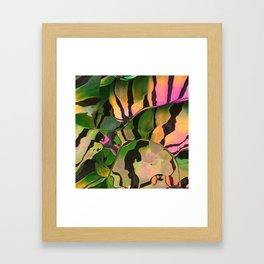 Vegetarian Zebra Framed Art Print