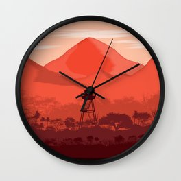 The Forest Lookout Wall Clock