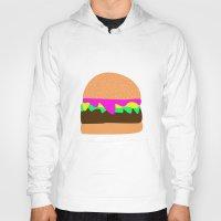 burger Hoodies featuring Burger by Sara Hepe