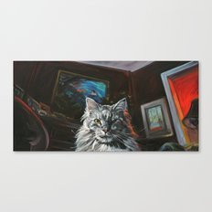 Two Faces of the Main Coon Cat Canvas Print