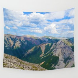 Views from the top of Sulphur Skyline in Jasper National Park, Canada Wall Tapestry