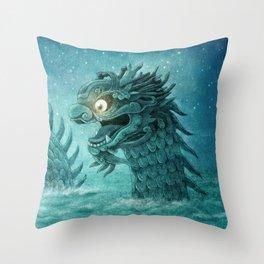 The Dumpling Dragon Throw Pillow
