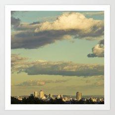 Sky above Art Print