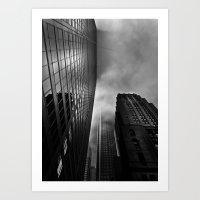 Downtown Toronto Fogfest No 4 Art Print