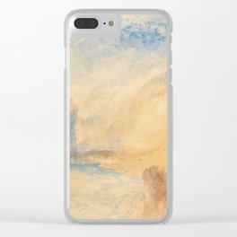 "J.M.W. Turner ""Mountain Landscape with Lake"" Clear iPhone Case"