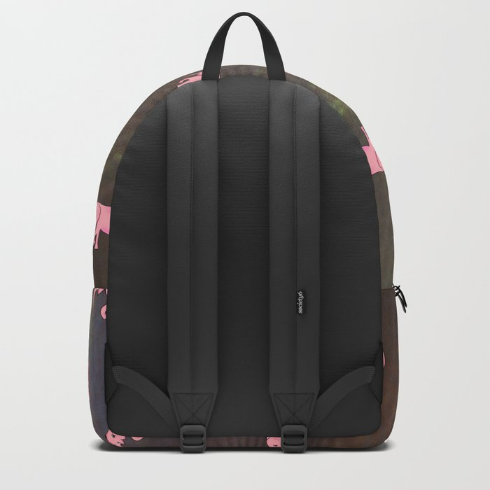 elephants on an abstract background 2 Backpack