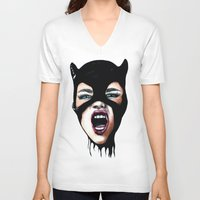 scream V-neck T-shirts featuring Scream by Bella Harris