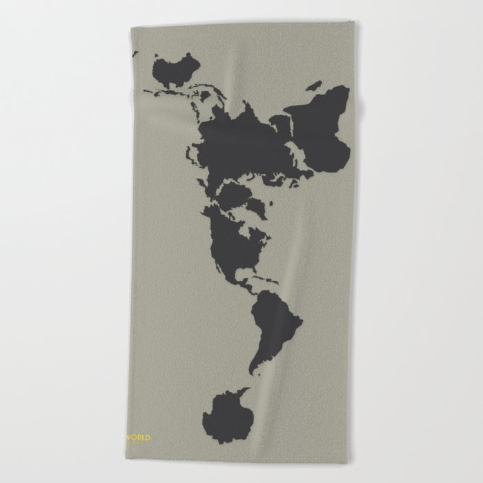 Dymaxion Map - Greys Beach Towel by brennanletkeman | Society6 on