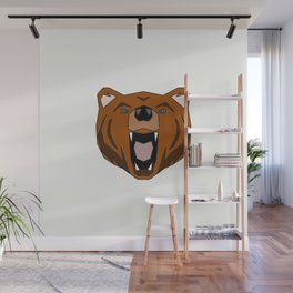 Geometric Bear - Abstract, Animal Design Wall Mural