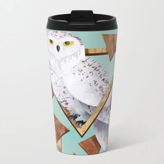 Owl in the Woods Metal Travel Mug