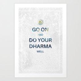 Do your Dharma Art Print