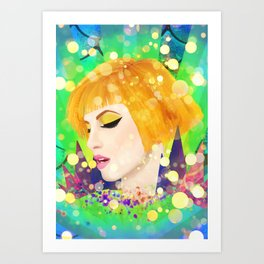 Digital Painting - Hayley Williams - Variation Art Print