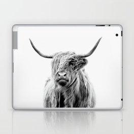 Portrait of a Highland Cattle Laptop & iPad Skin