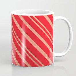 Modern Red & Gold Stripey Pattern Coffee Mug