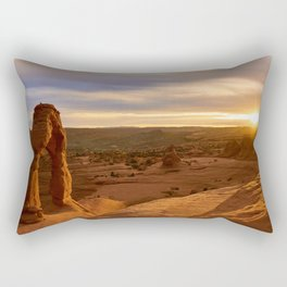 Delicate Arch at Sunset Rectangular Pillow