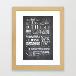 Best Ever Grilled Cheese Framed Art Print