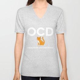 OCD Obsessive Cast Disorder Unisex V-Neck