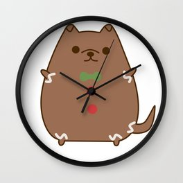 Cute Christmas Gingerbread Pupsheen Wall Clock