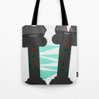 tegan and sara Tote Bags featuring Heartthrob [Tegan and Sara] by Canadiquin