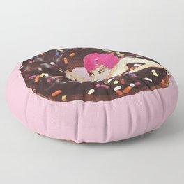 Donut Girl Floor Pillow