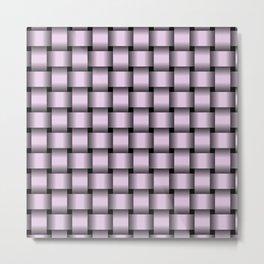 Pastel Violet Weave Metal Print
