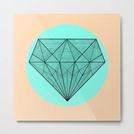 Crystaline in circle Metal Print