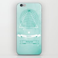 hologram iPhone & iPod Skins featuring Hologram by A|H Studio & Designs