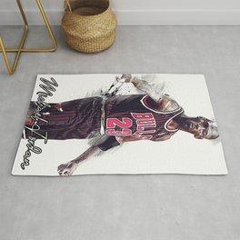 basketball player art 15 Rug