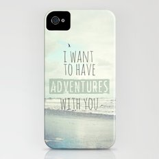 I want to have adventures with you iPhone (4, 4s) Slim Case