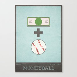 Moneyball - minimal poster Canvas Print