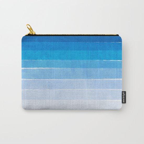 Blue Ombre Brushstroke - Summer, Beach, Ocean, Water, LA Cute trendy, painterly art Carry-All Pouch