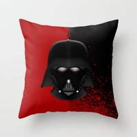 darth vader Throw Pillows featuring Darth Vader by Oblivion Creative