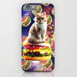 Hamburger Astro Cat On Burger iPhone Case