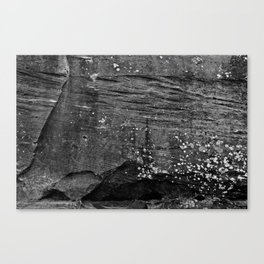 Unconformity in the Red Canvas Print