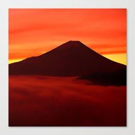 Volcano Landscape Canvas Print