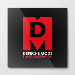 DM : Black Celebration Logo Metal Print