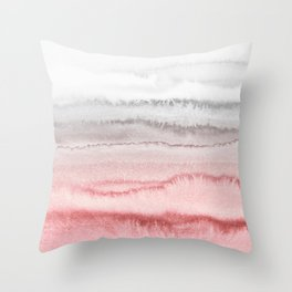 WITHIN THE TIDES - ROSE TO GREY Throw Pillow