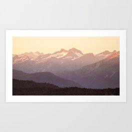 Pastel Range Art Print