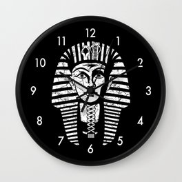 Ancient Egyptian Pharaoh King Tut Wall Clock