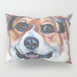 Pembroke Welsh Corgi dog portrait painting by L.A.Shepard fine art Pillow Sham