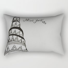Crysler Building New York Rectangular Pillow