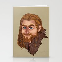 fili Stationery Cards featuring Fili - Dean O'gorman  by Blanca Limón