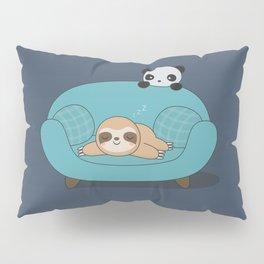 Kawaii Cute Panda And Sloth Pillow Sham
