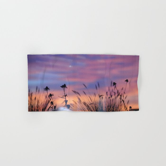 LOOK OUTSIDE - Flowers & Sunset #1 #art #society6 Hand & Bath Towel