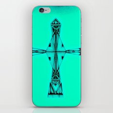 cross-aqua iPhone Skin