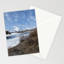 Grand Tetons from Oxbow Bend at a Distance Stationery Cards