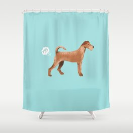 Irish Terrier farting dog cute funny dog gifts pure breed dogs Shower Curtain